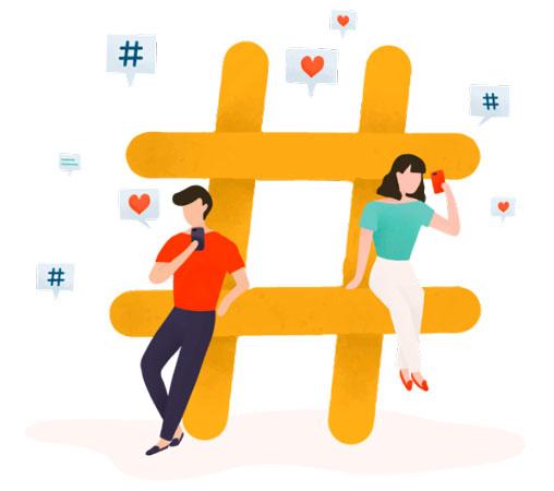 شبکههای اجتماعی - هشتگ